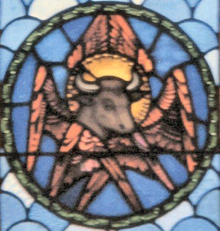 Stained Glass Luke the Evangelist