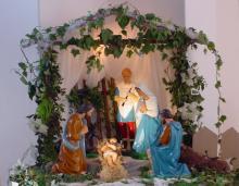 Crib at Christmas
