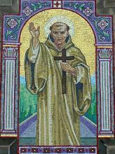 St Bernard Mosaic on church front